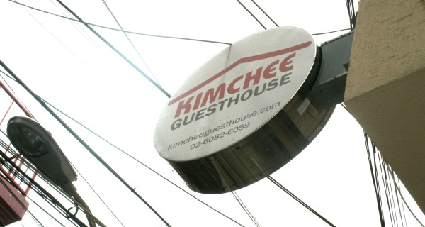 Kimchi Guesthouse Sign